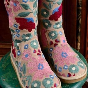Embroidered Floral Uggs